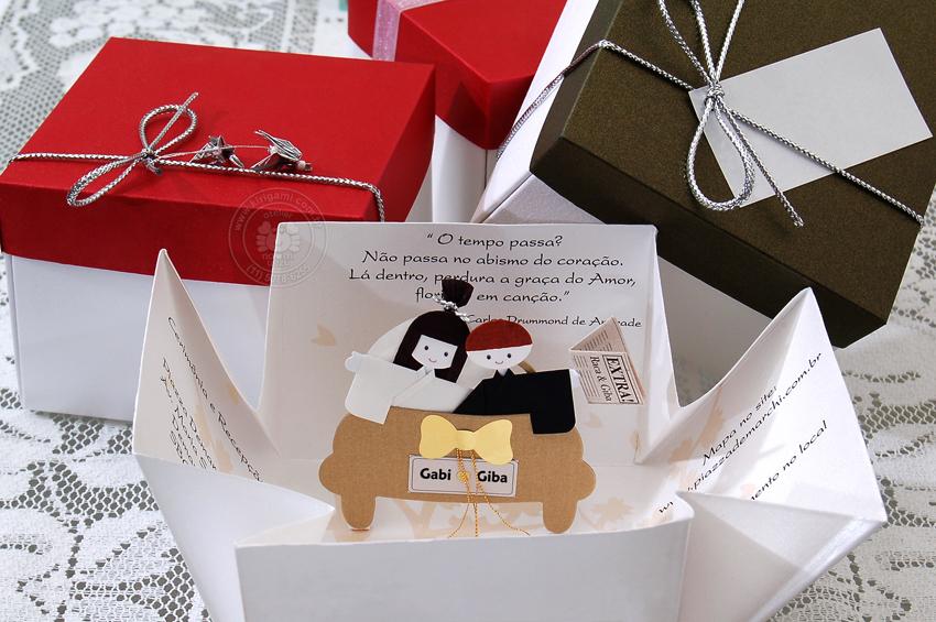 Kirigami  Convite De Casamento  Atelier Naomi Uezu  Origami
